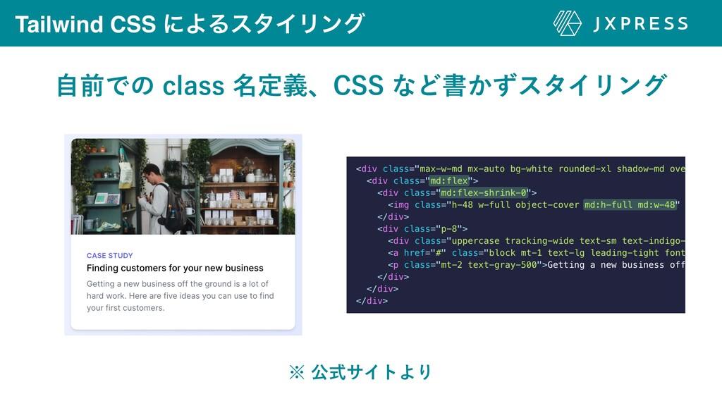 Tailwind CSS ʹΑΔελΠϦϯά ࣗલͰͷDMBTT໊ఆٛɺ$44ͳͲॻ͔ͣ...