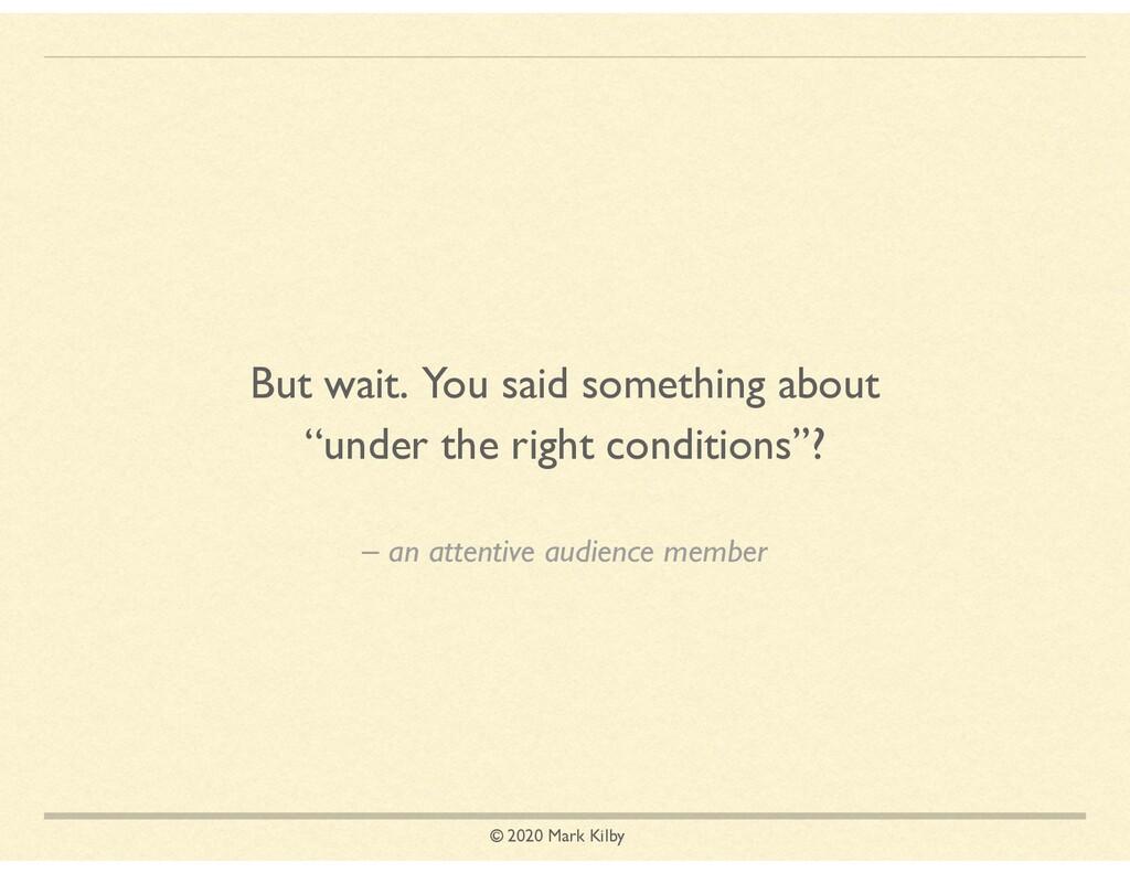 © 2020 Mark Kilby – an attentive audience membe...