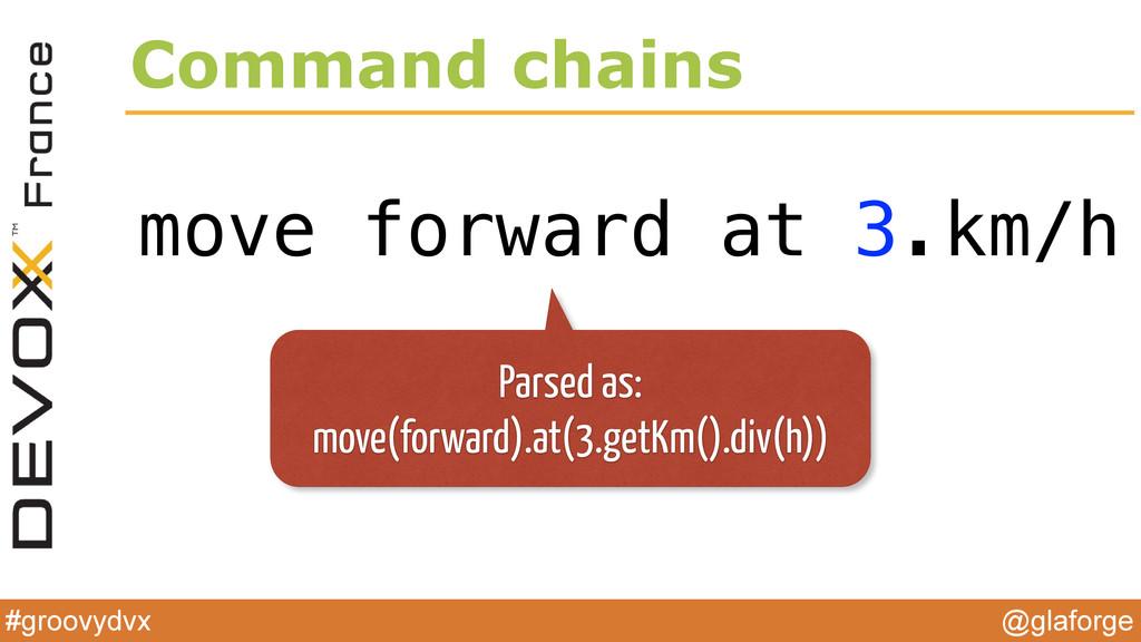 @glaforge #groovydvx Command chains move forwar...