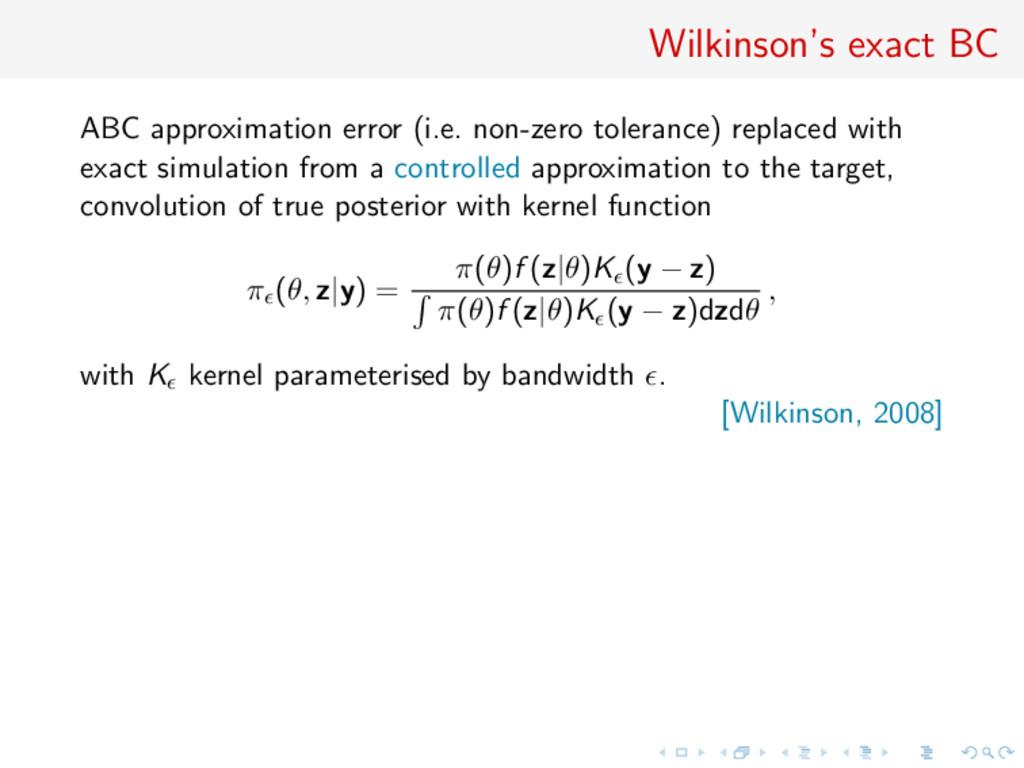 Wilkinson's exact BC ABC approximation error (i...