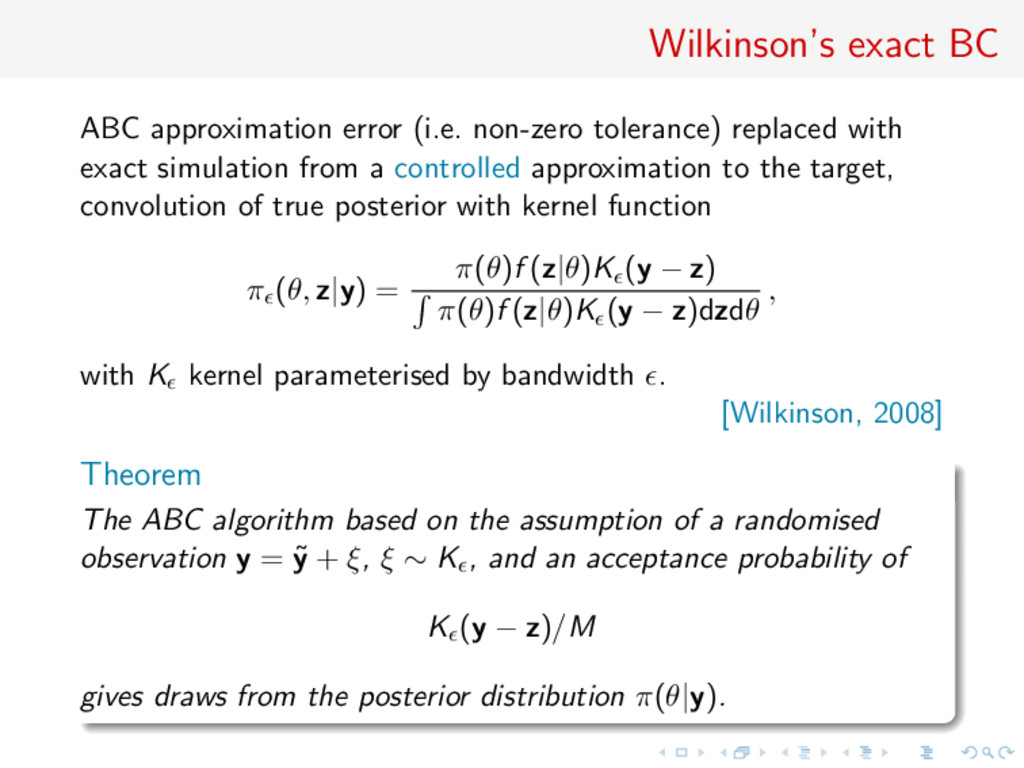 Wilkinson's exact BC ABC approximation error (i...