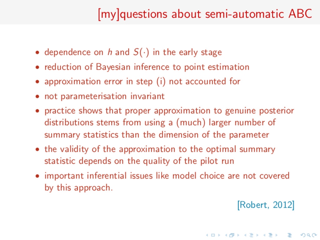 [my]questions about semi-automatic ABC • depend...