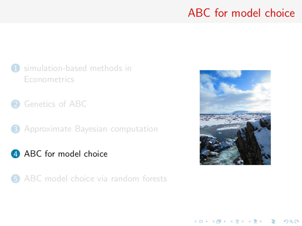 ABC for model choice 1 simulation-based methods...
