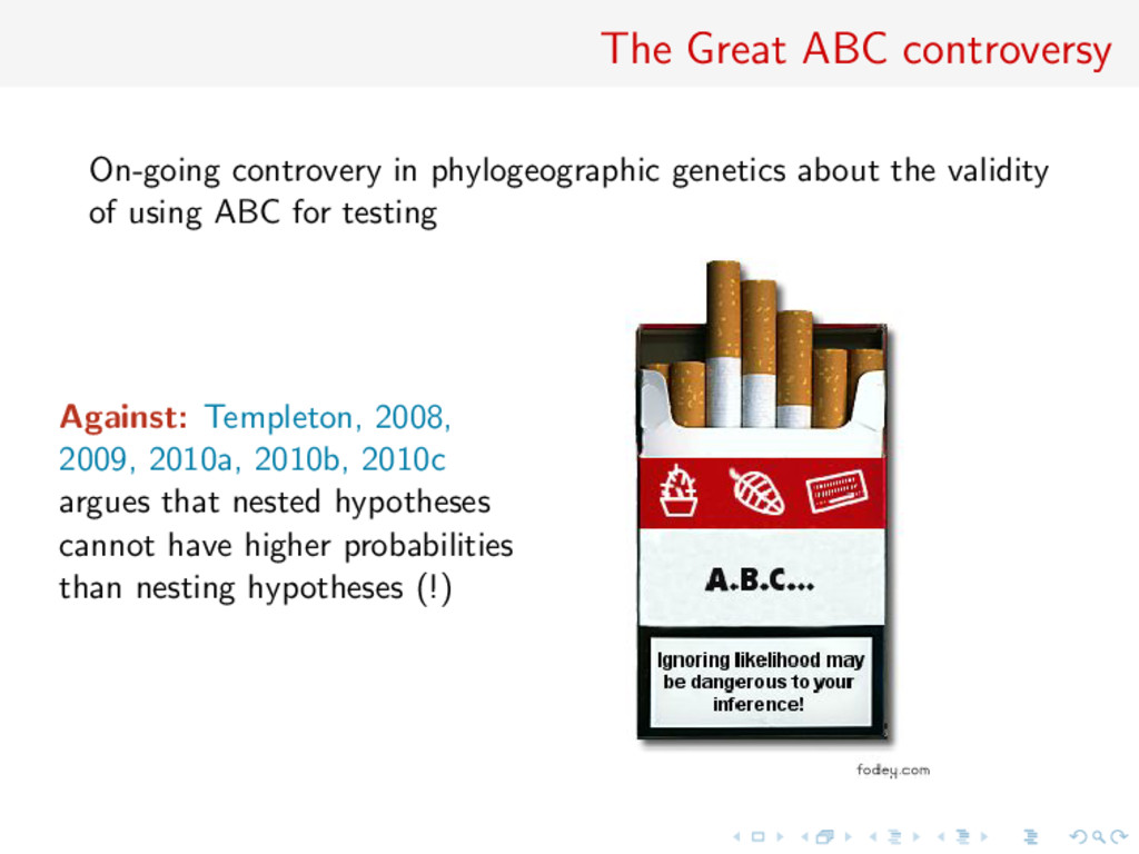 The Great ABC controversy On-going controvery i...