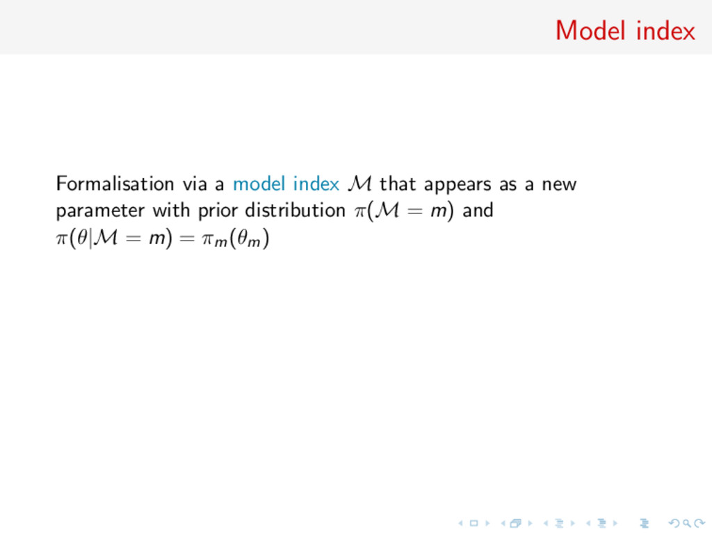 Model index Formalisation via a model index M t...