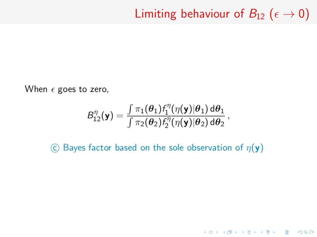 Limiting behaviour of B12 ( → 0) When goes to z...