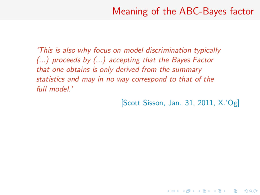 Meaning of the ABC-Bayes factor 'This is also w...
