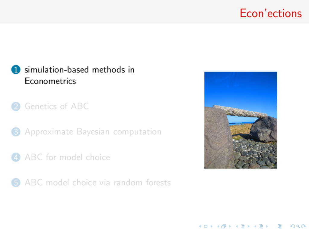 Econ'ections 1 simulation-based methods in Econ...