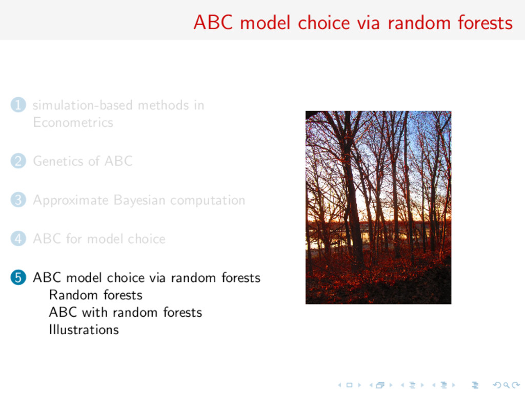 ABC model choice via random forests 1 simulatio...