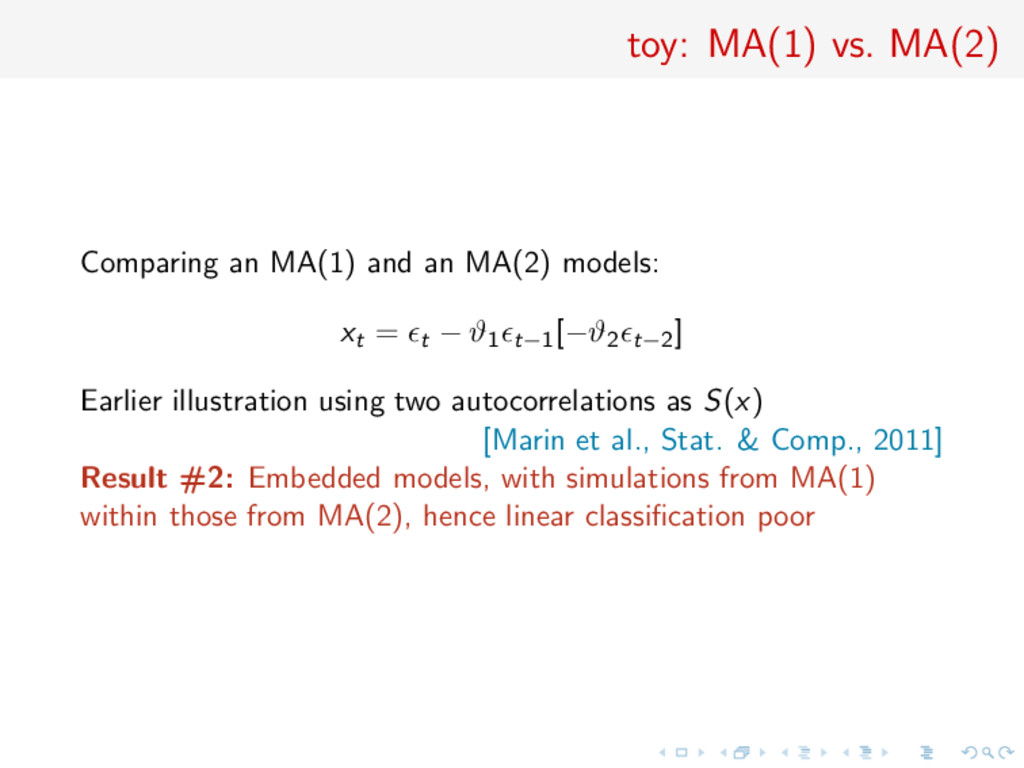 toy: MA(1) vs. MA(2) Comparing an MA(1) and an ...