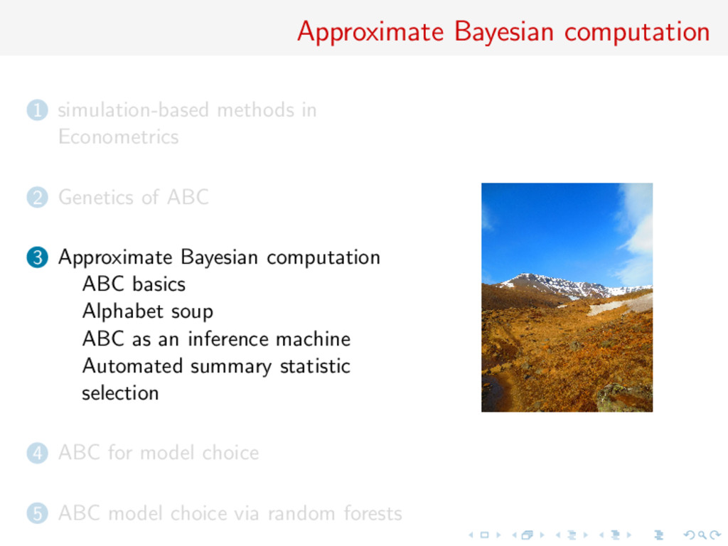 Approximate Bayesian computation 1 simulation-b...