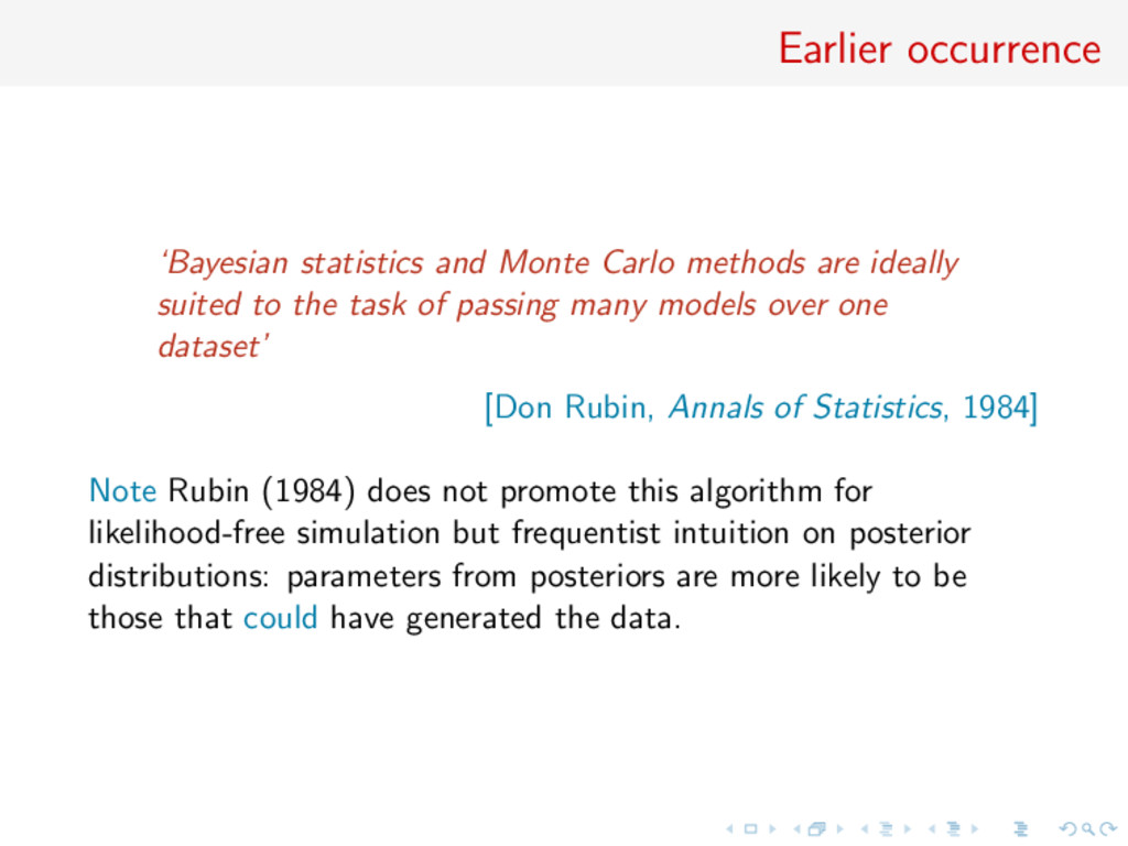 Earlier occurrence 'Bayesian statistics and Mon...