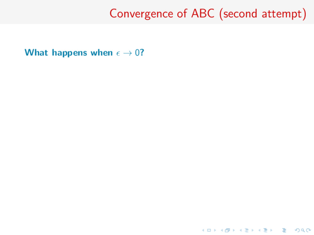Convergence of ABC (second attempt) What happen...