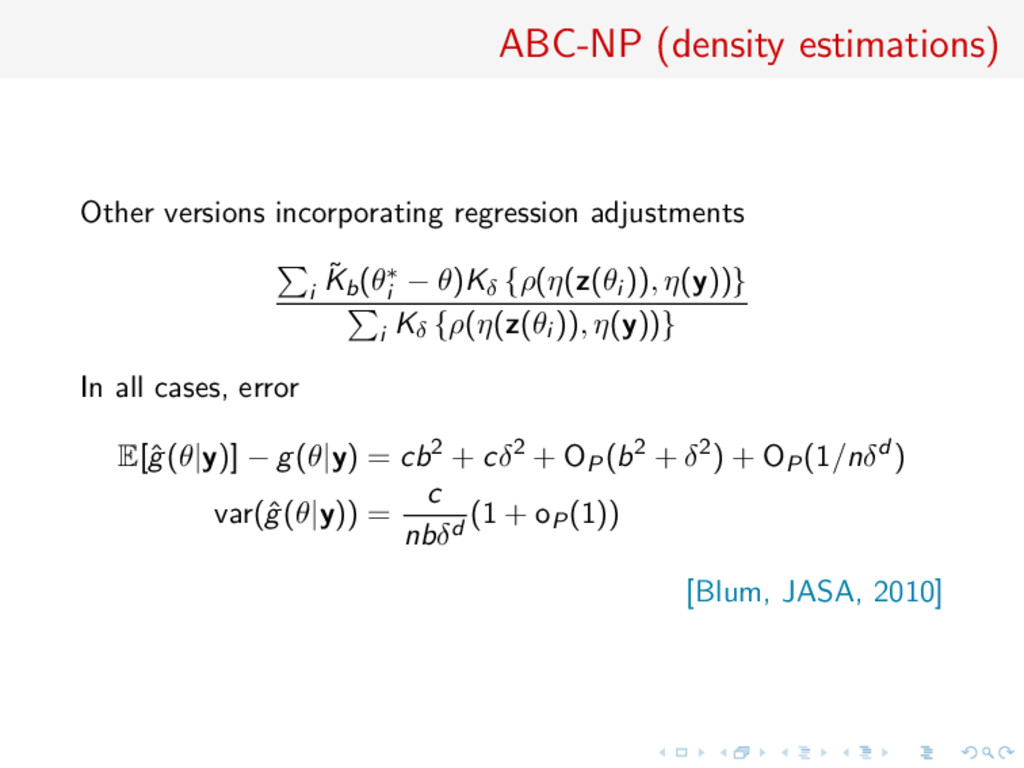 ABC-NP (density estimations) Other versions inc...