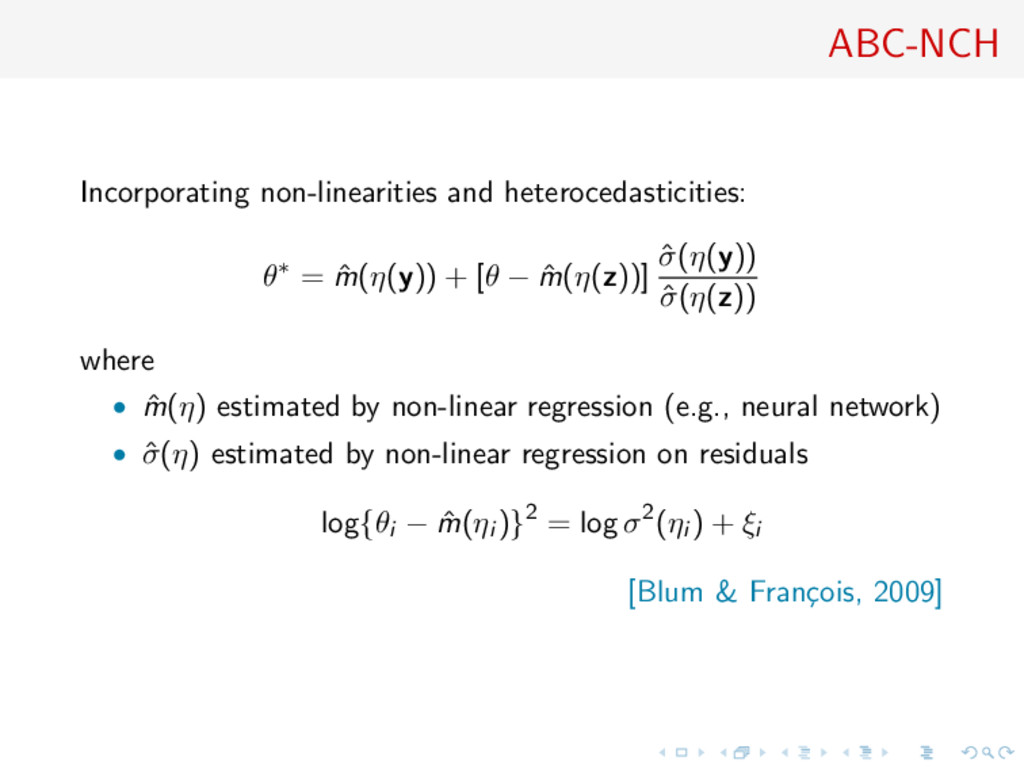 ABC-NCH Incorporating non-linearities and heter...