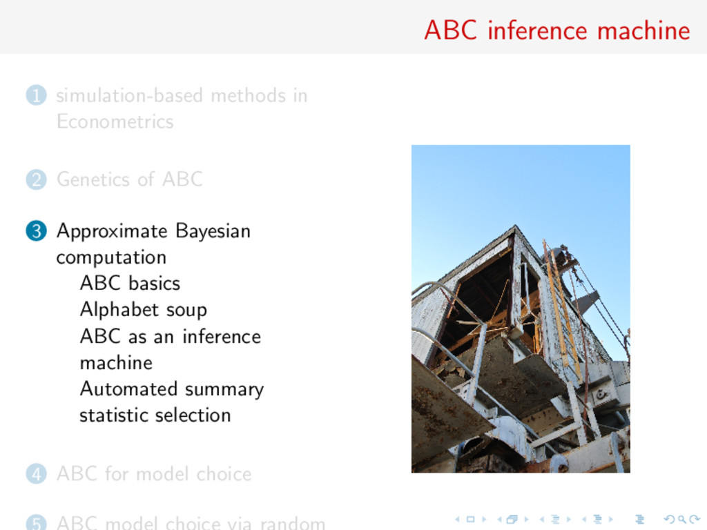 ABC inference machine 1 simulation-based method...