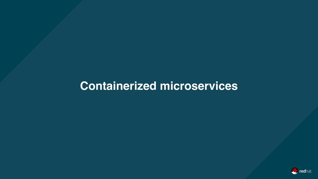 Containerized microservices