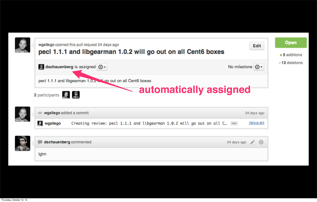 automatically assigned automatically assigned T...