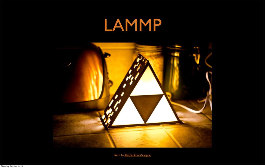 LAMMP Item by TheBackPackShoppe Thursday, Octob...