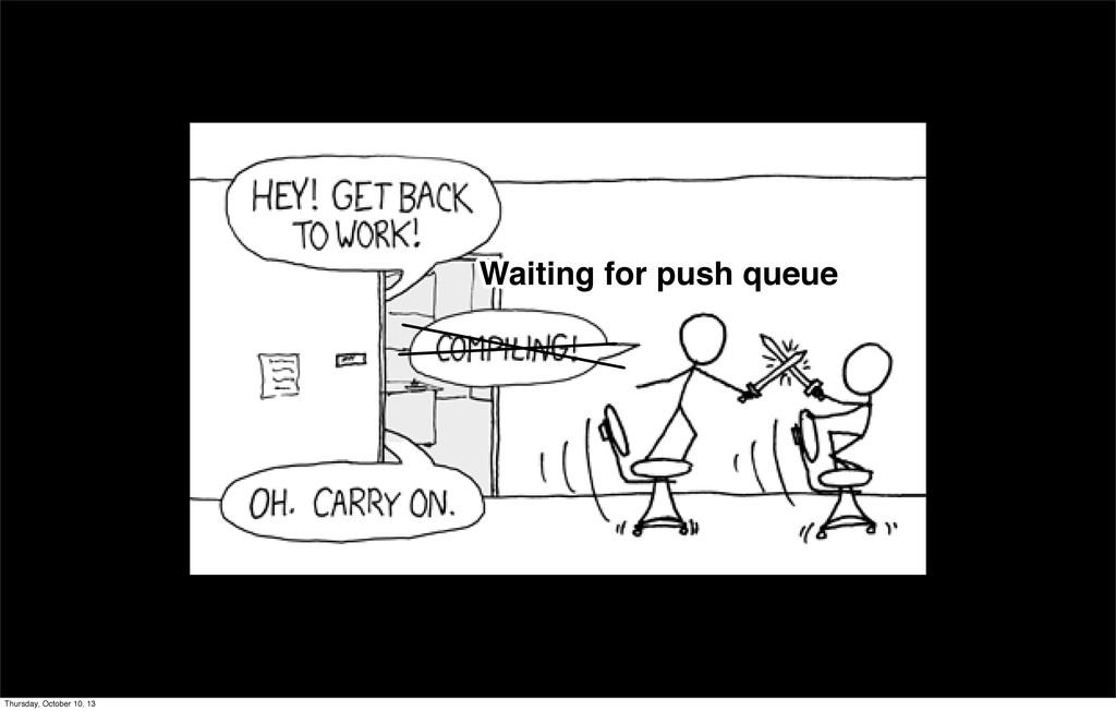 Waiting for push queue Waiting for push queue T...