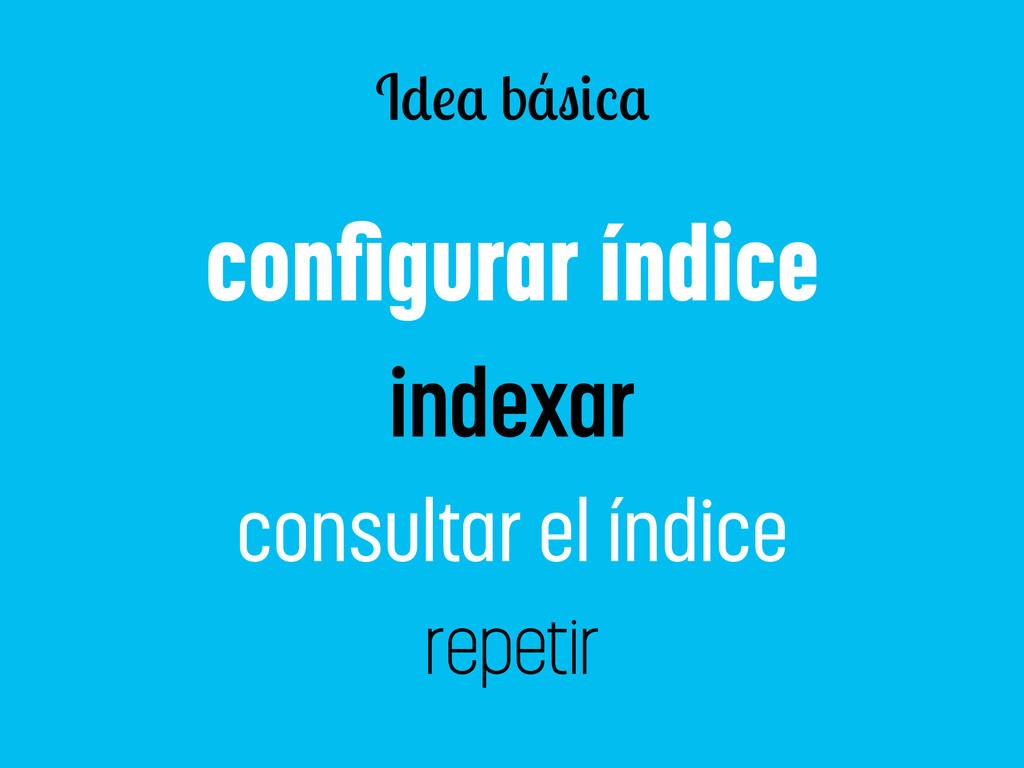 I b configurar índice indexar consultar el índic...