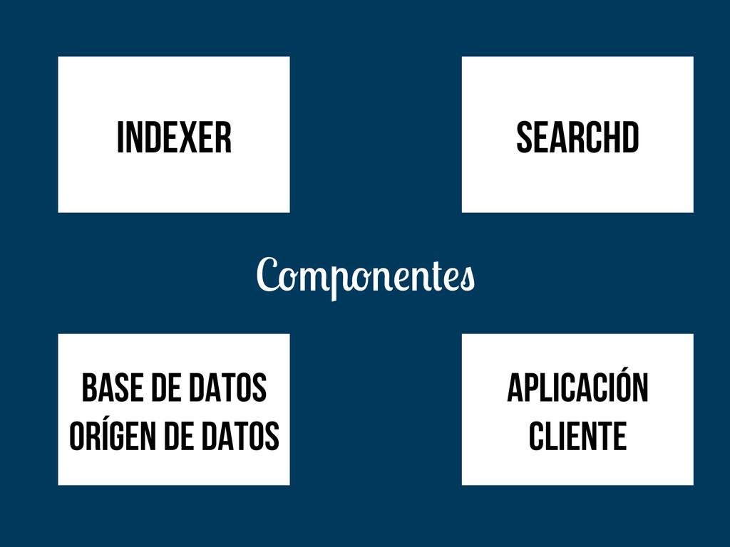 C aplicación cliente indexer searchd base de da...