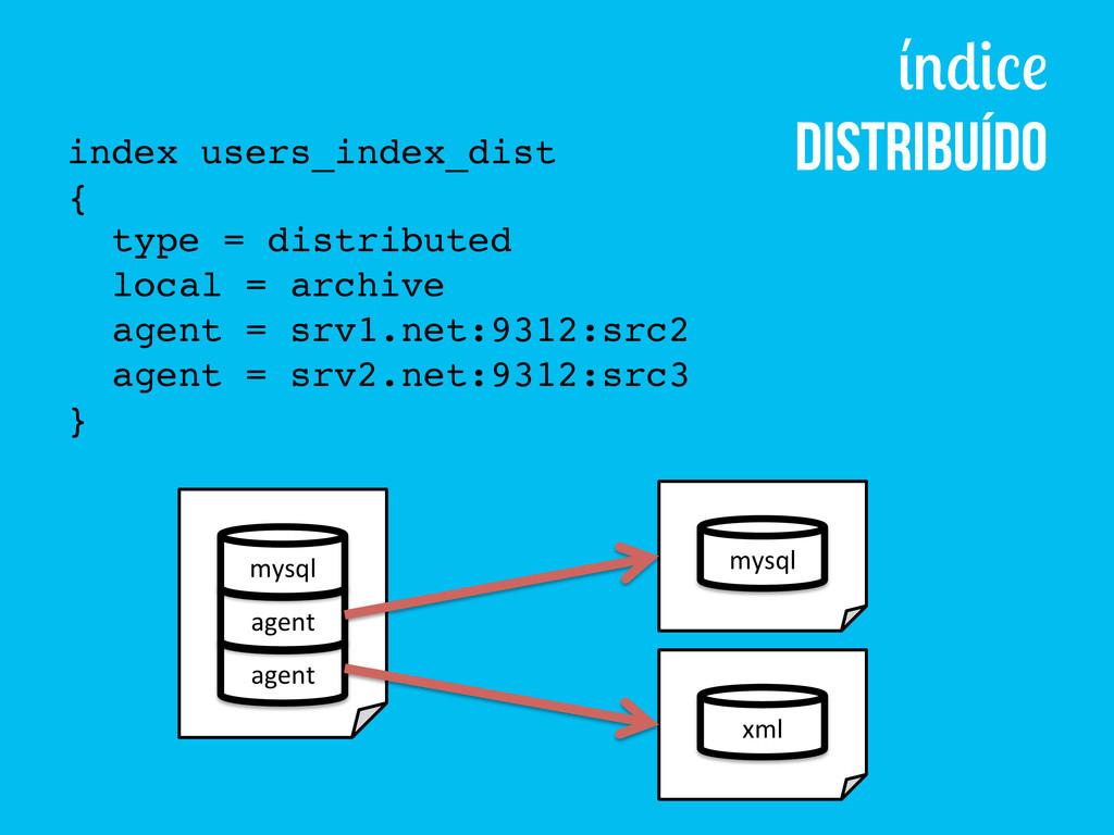 Distribuído index users_index_dist! {! type = d...