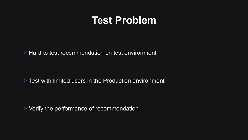 Test Problem > Test with limited users in the P...