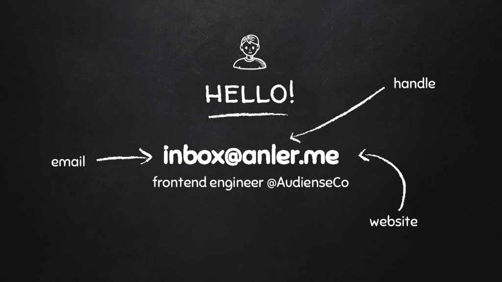 hello! inbox@anler.me frontend engineer @Audien...