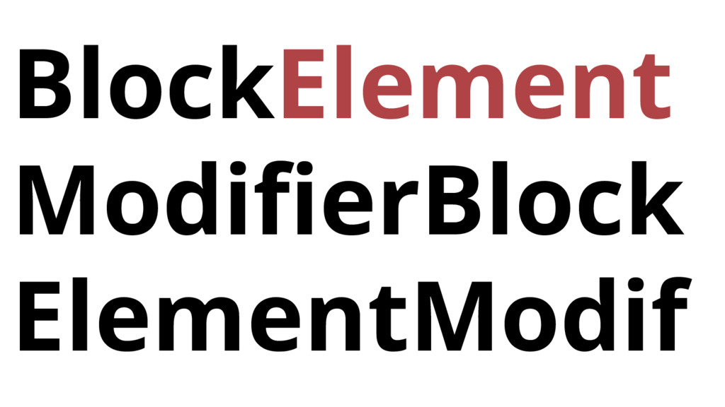 BlockElement ModifierBlock ElementModif