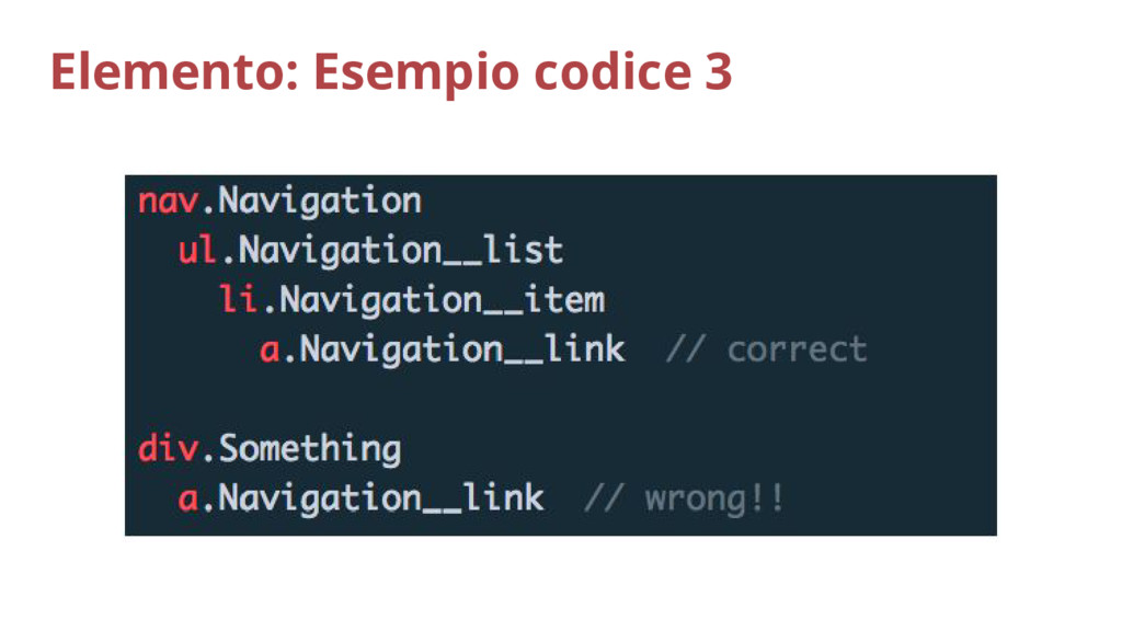 Elemento: Esempio codice 3