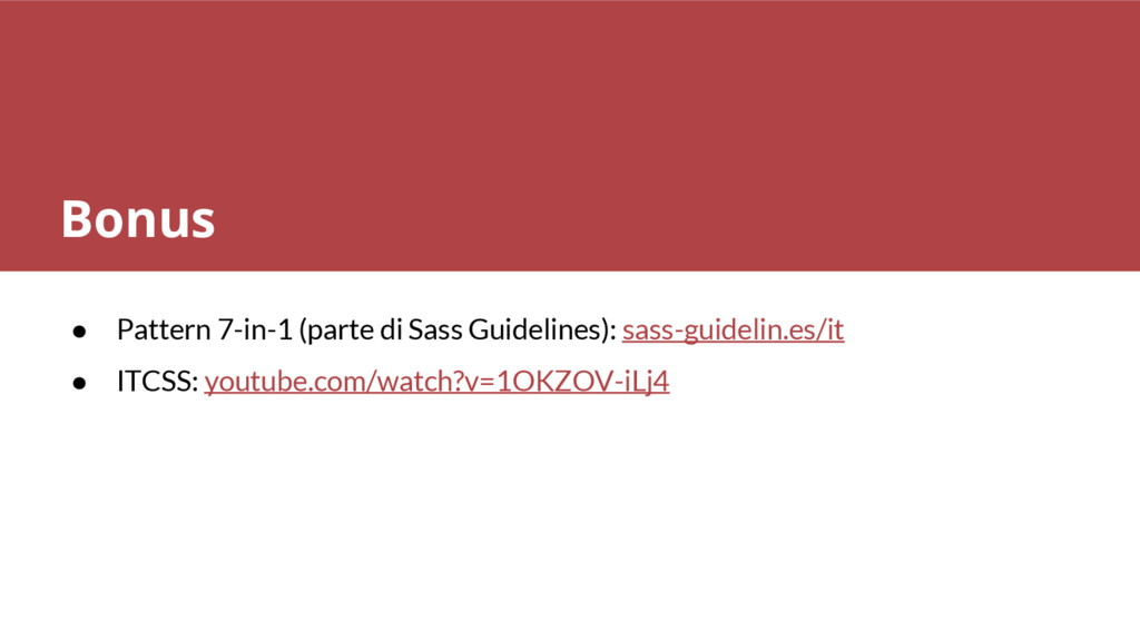 ● Pattern 7-in-1 (parte di Sass Guidelines): sa...
