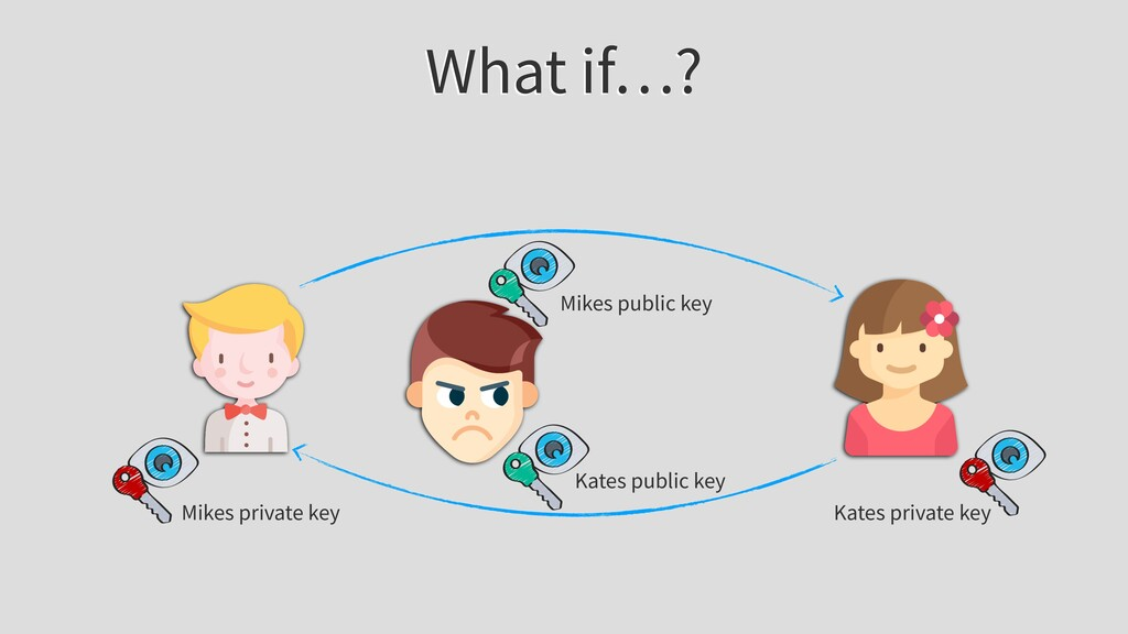 What if…? Mikes public key Mikes private key Ka...