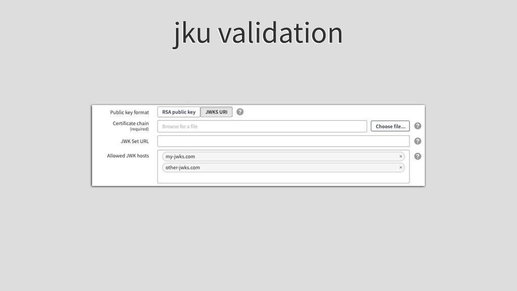 jku validation