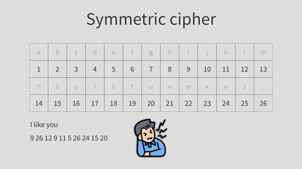 Symmetric cipher a b c d e f g h i j k l m 1 2 ...