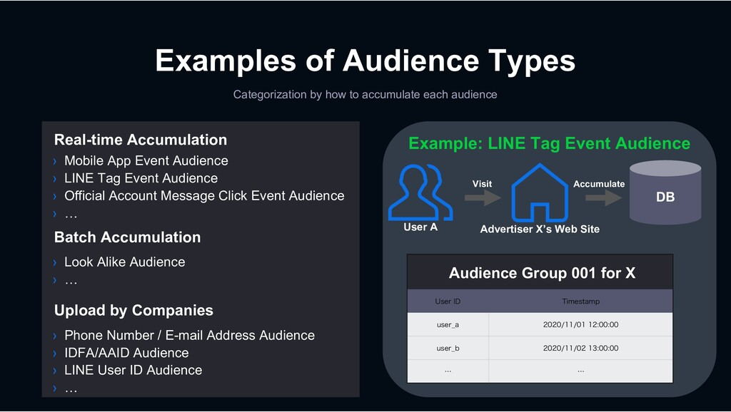 Examples of Audience Types Categorization by ho...