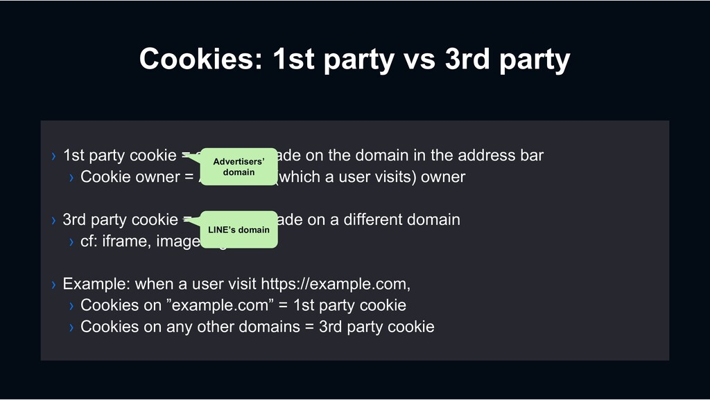 Cookies: 1st party vs 3rd party › 1st party coo...