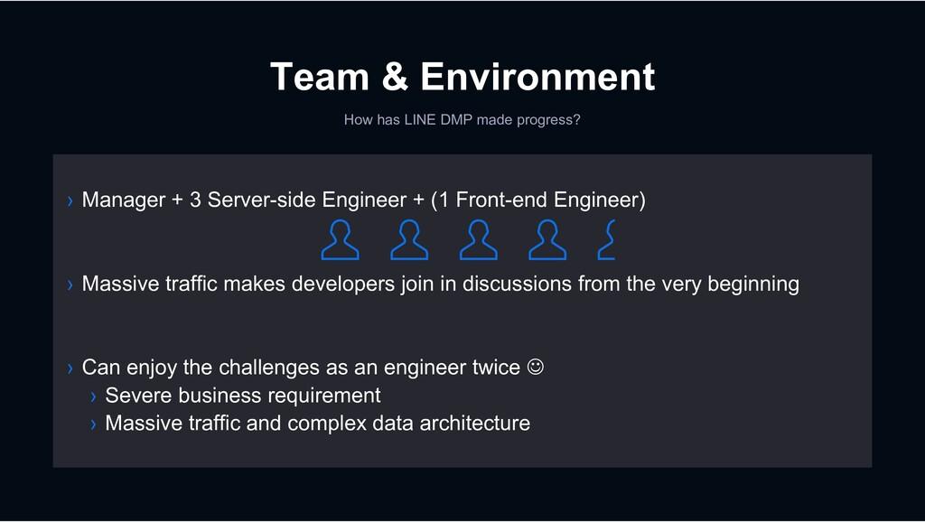 Team & Environment How has LINE DMP made progre...