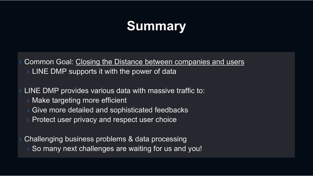 Summary › Common Goal: Closing the Distance bet...