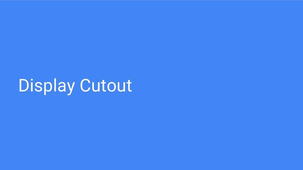 Display Cutout