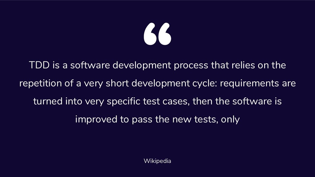 TDD is a software development process that reli...