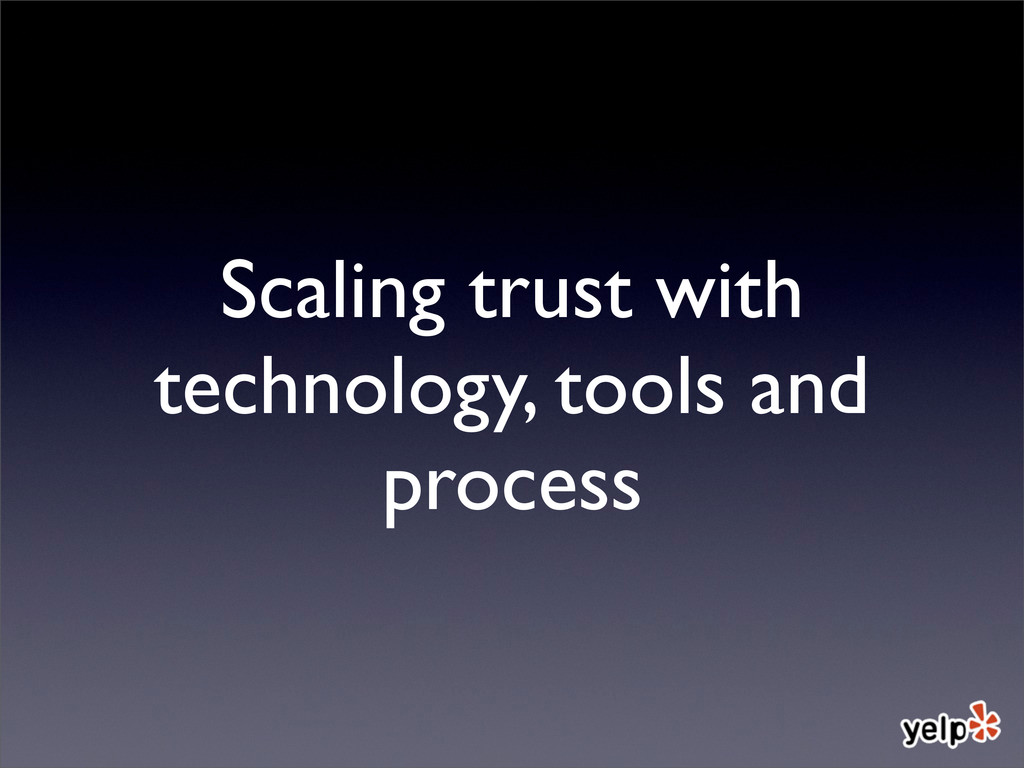 Scaling trust with technology, tools and process