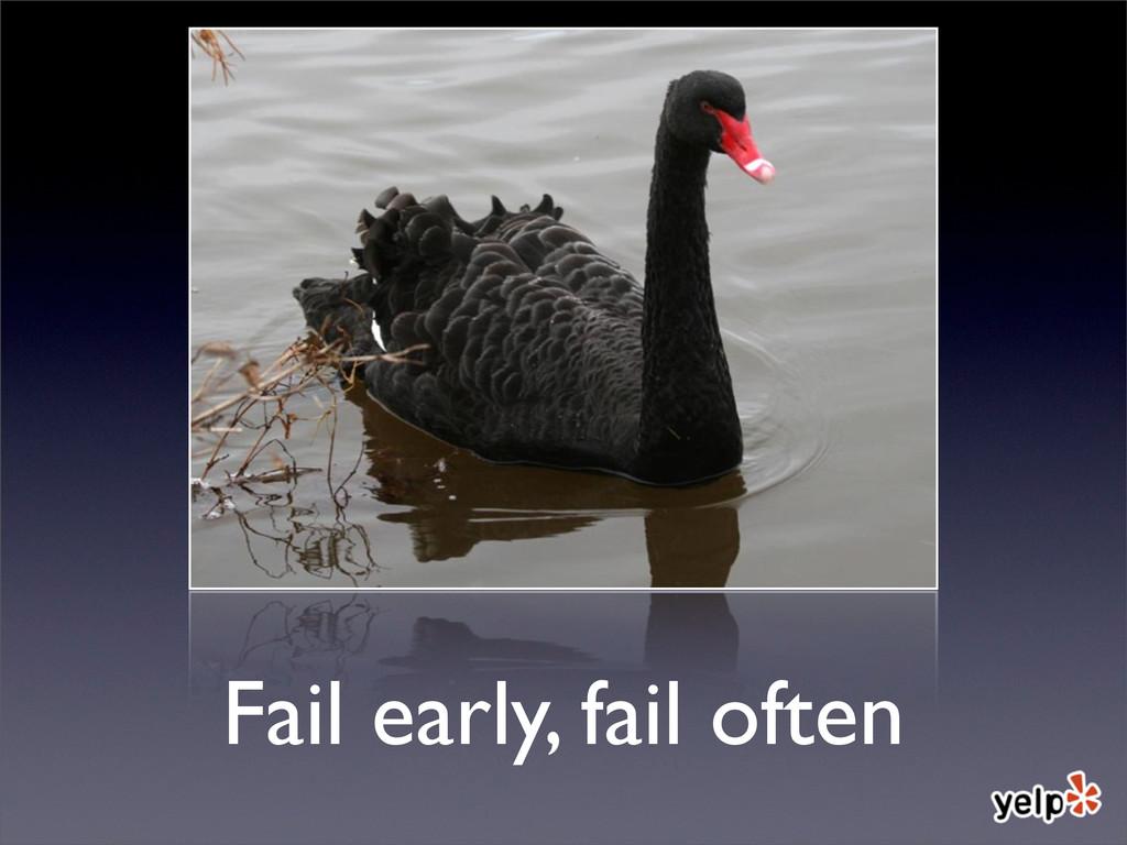 Fail early, fail often
