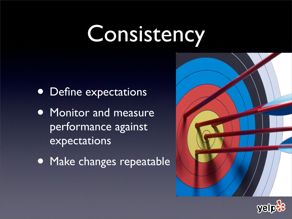 Consistency • Define expectations • Monitor and ...