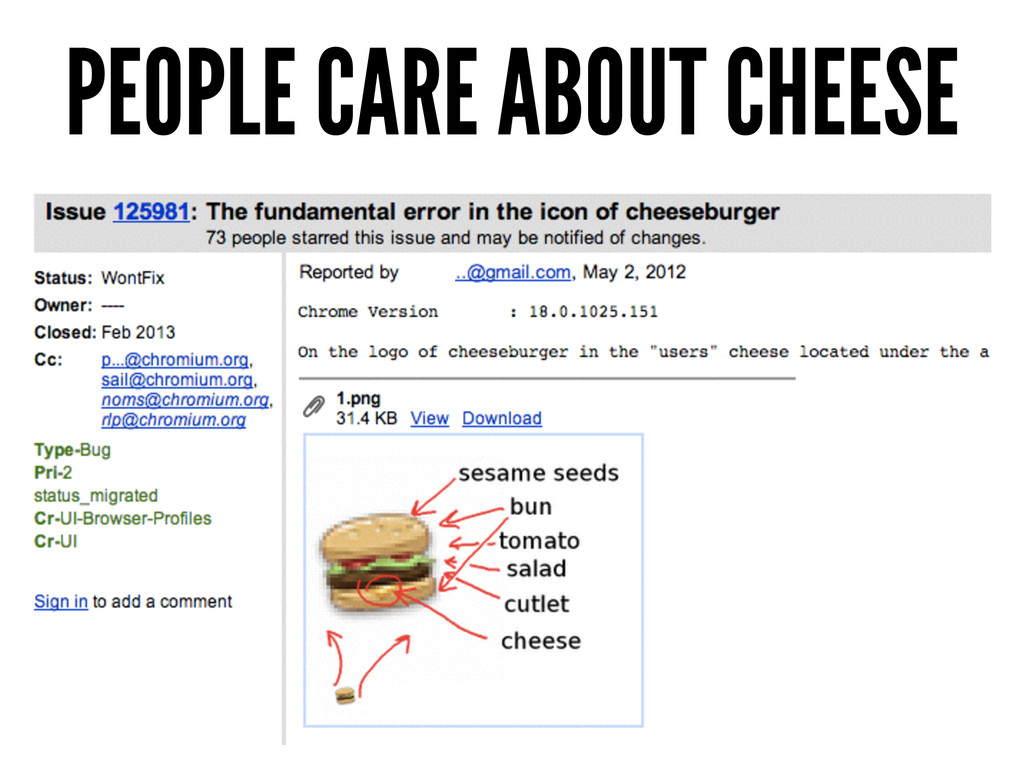 PEOPLE CARE ABOUT CHEESE