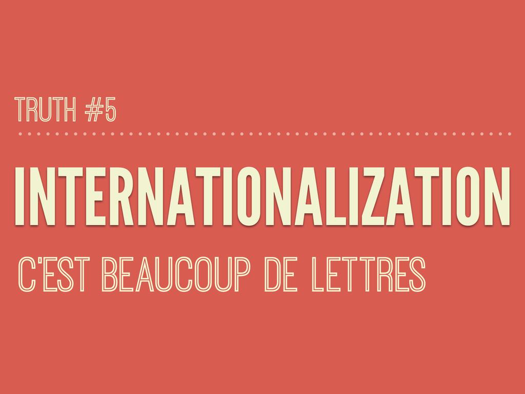 INTERNATIONALIZATION C'EST BEAUCOUP DE LETTRES ...