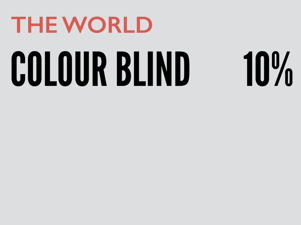 COLOUR BLIND THE WORLD 10%