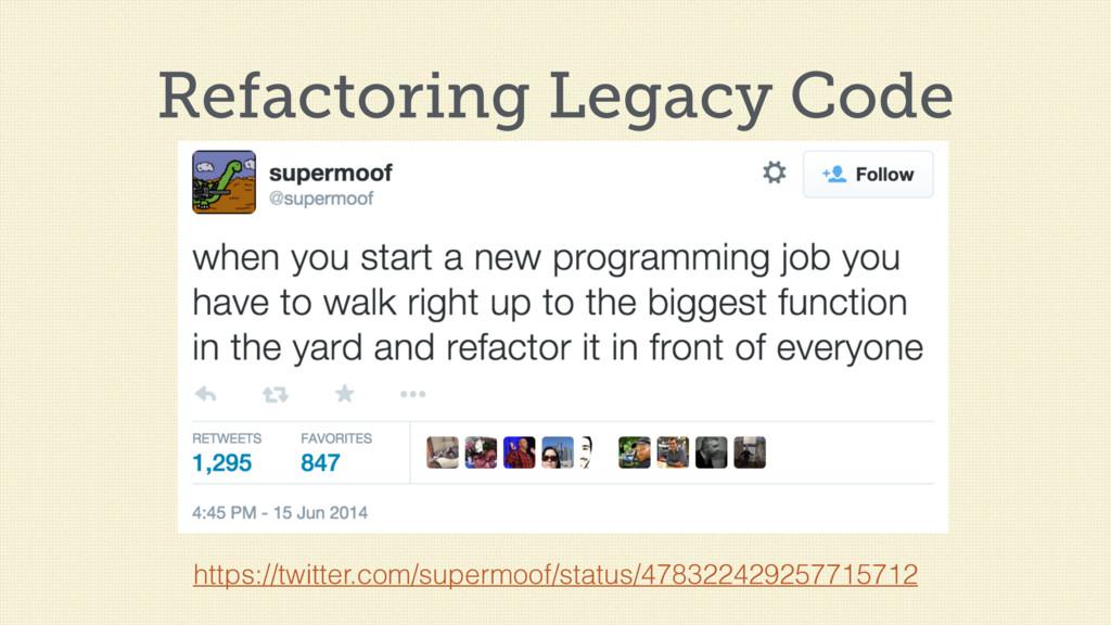 Refactoring Legacy Code https://twitter.com/sup...