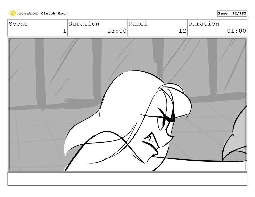 Scene 1 Duration 23:00 Panel 12 Duration 01:00 ...