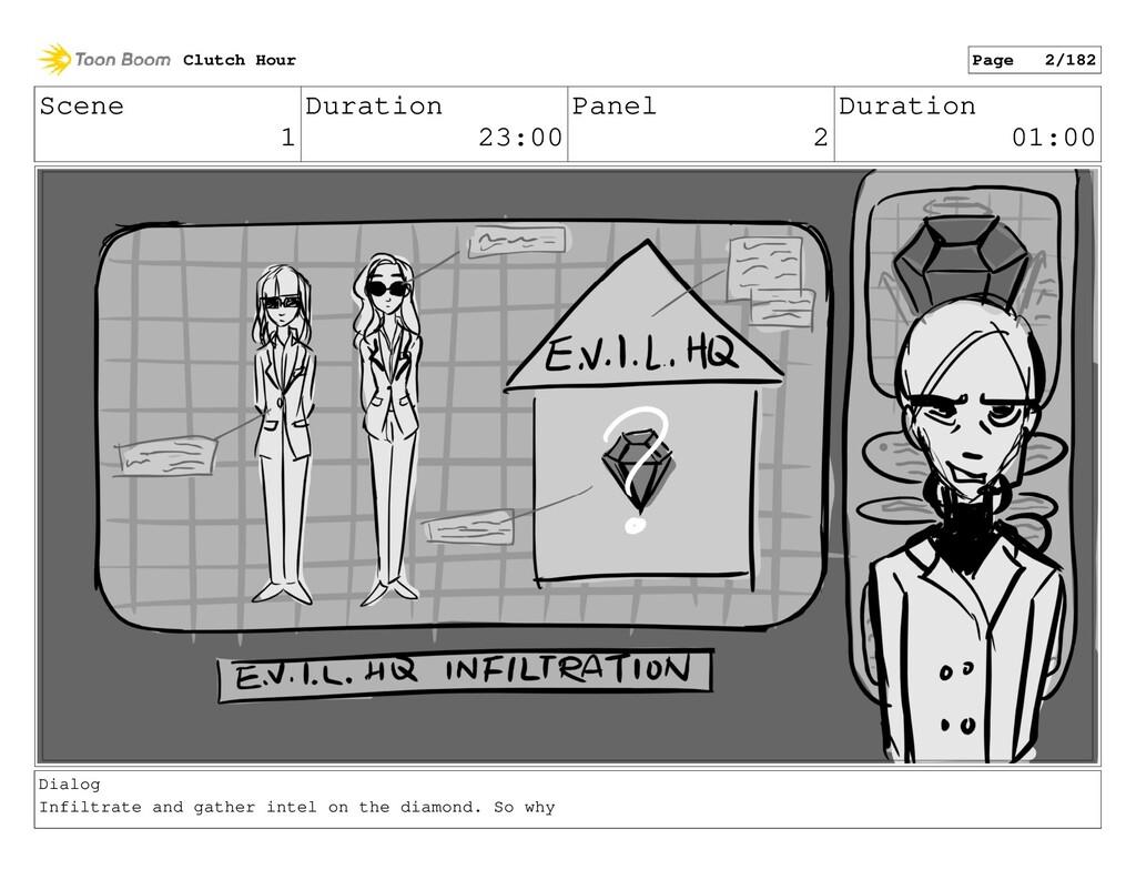 Scene 1 Duration 23:00 Panel 2 Duration 01:00 D...